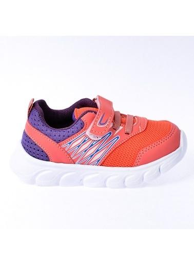 Kiko Kids Kiko S12 Günlük Fileli Cırtlı Kız/Erkek Çocuk Spor Ayakkabı Somon